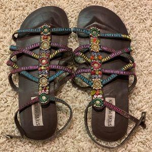 Steve Madden Beaded Sandals - Size 8